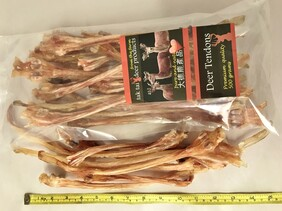 500gm bag mixed Deer Tendons